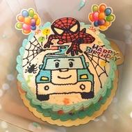 波力 蜘蛛人 8寸造型蛋糕