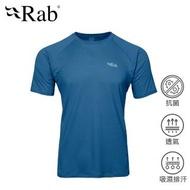 【英國 RAB】Force SS Tee 透氣短袖排汗衣 男款 墨藍 #QBU55(透氣短袖排汗衣)