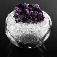 【A1寶石】頂級天然紫水晶簇/白水晶聚寶盆-招財轉運居家風水必備(含開光加持)