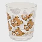 San-X 懶熊悠閒系列透明塑膠水杯。懶熊