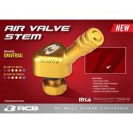 [Shop Malaysia] AIR VALVE STEMS ALLOY 8MM TUBELESS VALVE HEAD 100% ORIGINAL RCB