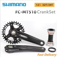 ∏☌⚡COD⚡Shimano DEORE FC MT510 12-speed 32T 34T mountain bike bicycle crank sprocket BB bottom