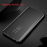 Samsung A51 Case Electroplate Mirror Flip Cover Samsung Galaxy A51 GalaxyA51 Casing Phone Case Stand
