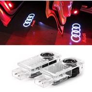 奧迪迎賓燈 汽車led迎賓燈 專用LOGO迎賓燈 投影燈 鐳射燈