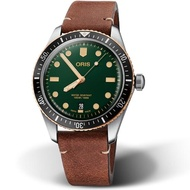【ORIS 豪利時】Oris Divers Sixty-Five復刻手錶(0173377074357-0752045 綠)