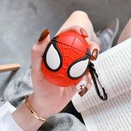 歐美潮牌創意蜘蛛人AirPods保護套帶鑰匙扣iphone無線藍牙耳機套