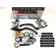 Brembo IZUMI Brake Brake IZUMI RCS 15 FULL SET SWITCH Brake Clutch Brake Supravior X150 X 150 Clock BREKET Oil BREKET Vario Scoopy Suprao Supraonic X150