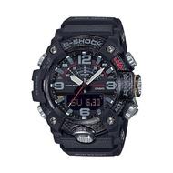 【CASIO 卡西歐】G-SHOCK 藍牙泥人雙顯錶 樹脂錶帶 酷黑 碳纖維 防水200米(GG-B100-1A)