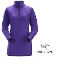 【ARCTERYX 始祖鳥 加拿大】Rho LT 長袖彈性保暖排汗衣 內層衣 機能保暖衣 運動上衣 女款 大麗花紫 (L06915000)