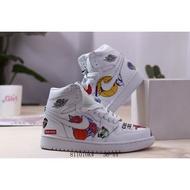 特價 籃球鞋 耐吉 Air Jordan 1 Mid 喬丹一代 塗鴉高幫 籃球鞋 運動鞋