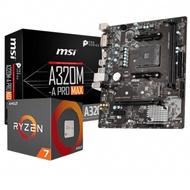 微星 MSI A320M-A PRO MAX +AMD R7 1700 組合套餐