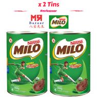 Milo Powder (400g) x 2 Tins (Healthier Choice) Chocolate Malt (Energy Drink)