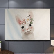 Tv Dust Cover Cute Animal Rabbit Dog Cat Printing Lcd Screen Protector Cloth Towel 65 Inch