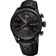 Oris Audi Sport 鈦限量賽車聯名計時腕錶-黑/44mm