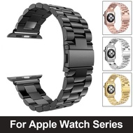 Stainless Steel Strap For Apple Watch 6 5 4 3 2 SE Band 38mm 42mm Bracelet Metal Band for Apple Watch series 40mm 44mm straps