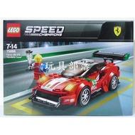*玩具部落*LEGO 樂高 積木 冠軍盃 跑車 75886 法拉利 488 GT3 特價821元