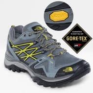 【美國 The North Face】男新款 Gore-Tex防水透氣耐磨輕量登山鞋/Vibram黃金大底/越野鞋.健行鞋/CXT3 灰黃