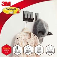 3M 無痕LIFESTYLE系列-組合式排鉤-三鉤組(黑)