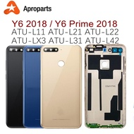 For Huawei Y6 2018 Back Battery Cover Rear Door Housing Case For Huawei Y6 Prime 2018 Battery Cover