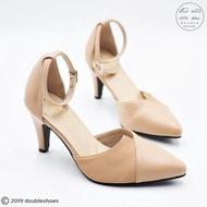 รองเท้าคัชชูรัดส้น รองเท้าออกงาน รองเท้าส้นสูง 2 นิ้ว PENNE รุ่น 7801 (สีดำ/ กะปิ) ไซส์ 35-40