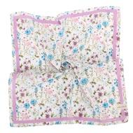 LAURA ASHLEY 繽紛滿版花卉純棉帕領巾-粉紫色