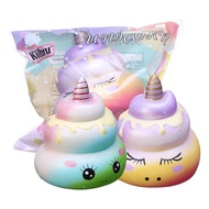 Kiibru Squishy  12CM Unicorn Poo Toys Slow Rising Squeeze Funny Colorful Toys