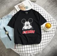 FINDSENSE H1 2018 夏季 新款 男 個性 米奇印花  情侶 寬鬆 圓領純棉 T恤  短袖 學生 潮上衣