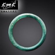 【KMK天然寶石】飄花翡翠藍寶4.3g(南非辛巴威天然綠玉髓-手鐲)