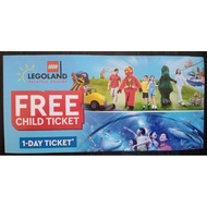 Legoland free child ticket (1 day ticket)