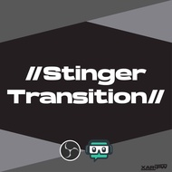 Stinger transition for OBS/Streamlabs OBS for Twitch/YouTube live/Facebook Gaming