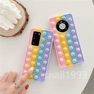Pop It Fashion Decompression Rainbow Peas Soft Silicone Phone Case Cover for Samsung A10E A20E