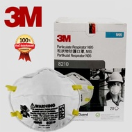 N95 3M 8210 หน้ากาก3M N95(8210) ป้องกันฝุ่น PM2.5 (20 ชิ้น/1 กล่อง)