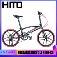 Hito X6 20/22 Inch Foldable Bicycle Shimano Accessories Outdoor Sports Bike Aviation Technology (high-quality Aluminum) Made In Germany, No Installation Required, Gift