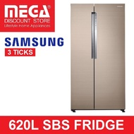 SAMSUNG RS62K61A17P 620L TWIN COOLING PLUS SIDE-BY-SIDE FRIDGE (3 TICKS)