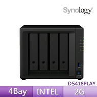 【希捷 4TB】4入組 NAS硬碟(ST4000VN008)+【Synology】DS418play 網路儲存伺服器Synology