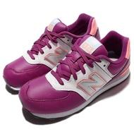 NEW BALANCE 休閒鞋KL574JWY W 女鞋紐巴倫運動跑鞋慢跑紫