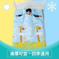 【新新精品】睡袋兒童四季通用 防踢被寶寶純棉大人防踢被子神器中大童秋冬