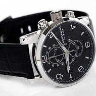 萬寶龍Montblanc手錶 男士時光行者系列三眼計時日曆腕錶 高品質皮帶錶 萬寶龍手錶 男士手錶 皮帶錶 石英錶