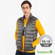 bossini男裝-90/10炫彩極輕羽絨背心02鐵灰色