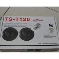 TS-T120 INPUT 500W MAX 高音喇叭+honda 車用主機 fit civic altis vios
