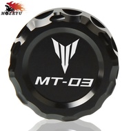 With MT-03 LOGO Motorcycle CNC Aluminum Accessories rear brake oil cup cover engine oil filter cover for YAMAHA MT-03 MT03