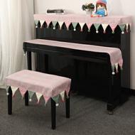 北歐鋼琴罩雅馬哈防塵罩鋼琴布鍵盤防塵布半罩套蓋布現代簡約鋼琴罩 『XY1401』
