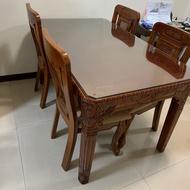 二手-實木餐桌椅組/原木餐桌組