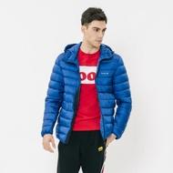 男裝ROOTS 可收納式羽絨外套-藍