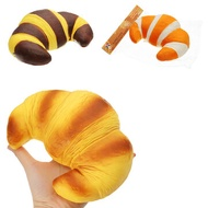 SquishyFun Jumbo Croissant Squishy Bread Super Slow Rising 18x12cm Squeeze Collection Toy Fun Gift