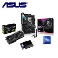 【華碩3060組合】TUF RTX3060 O12G GAMING+ STRIX Z590-F GAMING WIFI+Intel i7-10700KF+08D2S *2