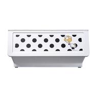 樹德/收納/衣櫃 黑點點白底Kitty大嘴鳥整理箱46L(1入) MIT台灣製 完美主義 【R0194】