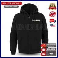 Zip Hoodie Yamaha Embroidery Casual TZM 125Z LC RXZ MotoGP Motorcycle Motosikal Superbike Racing Team Bike Streetwear