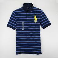 美國百分百【全新真品】Ralph Lauren RL 大馬款 條紋 網眼 短polo衫 藍色 XS S號 人氣TOP