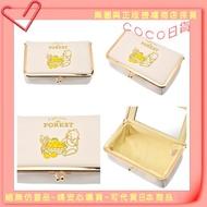 0228㊣日本迪士尼 柚子維尼 口金 化妝包 柚子 維尼熊 萬用包 小熊維尼 口金包 化妝盒